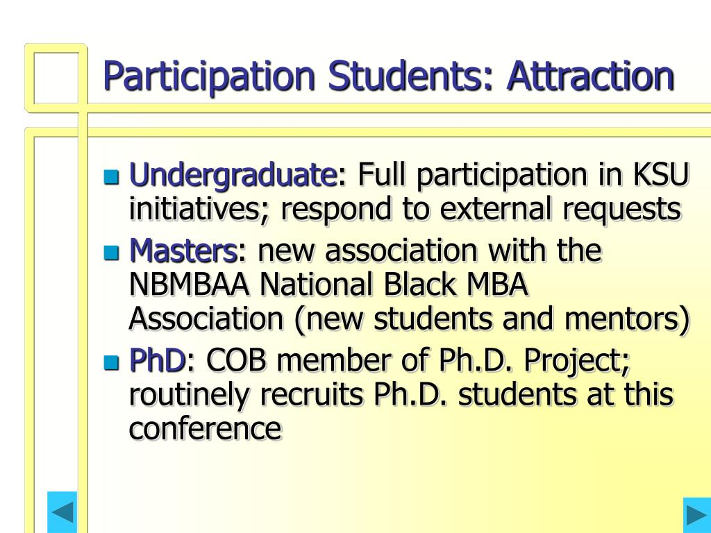 Participation Students: Attraction