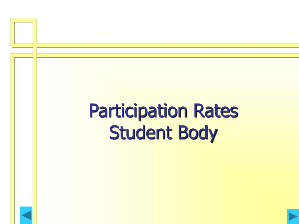 Participation Rates    Student Body
