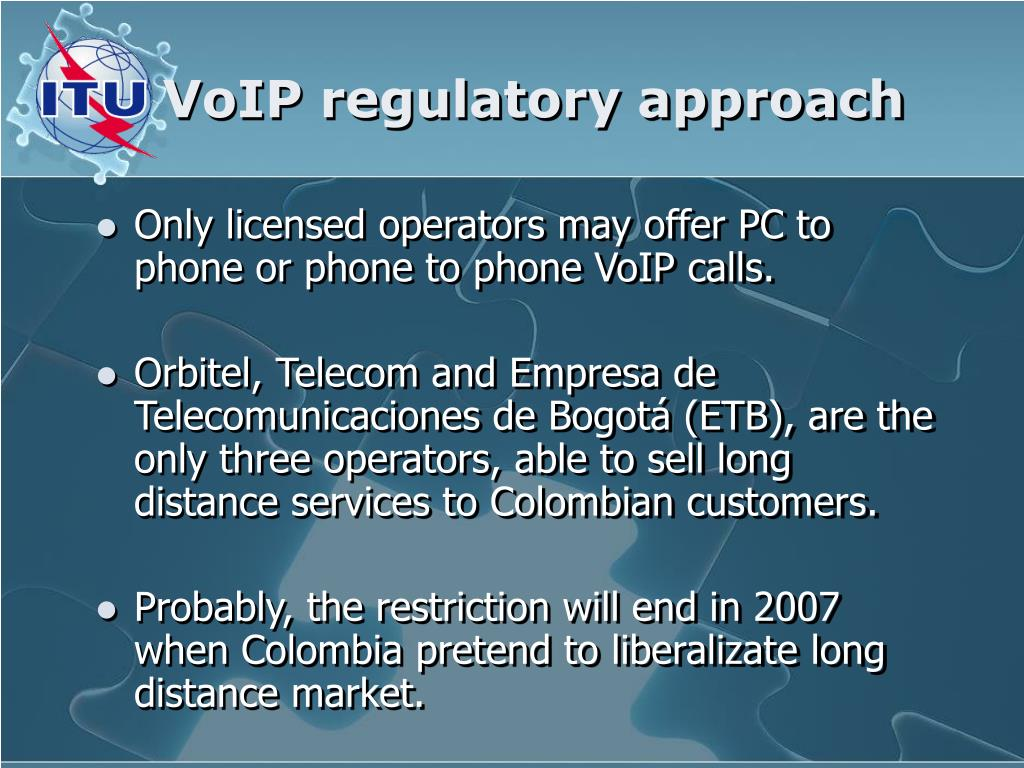 VoIP regulatory approach