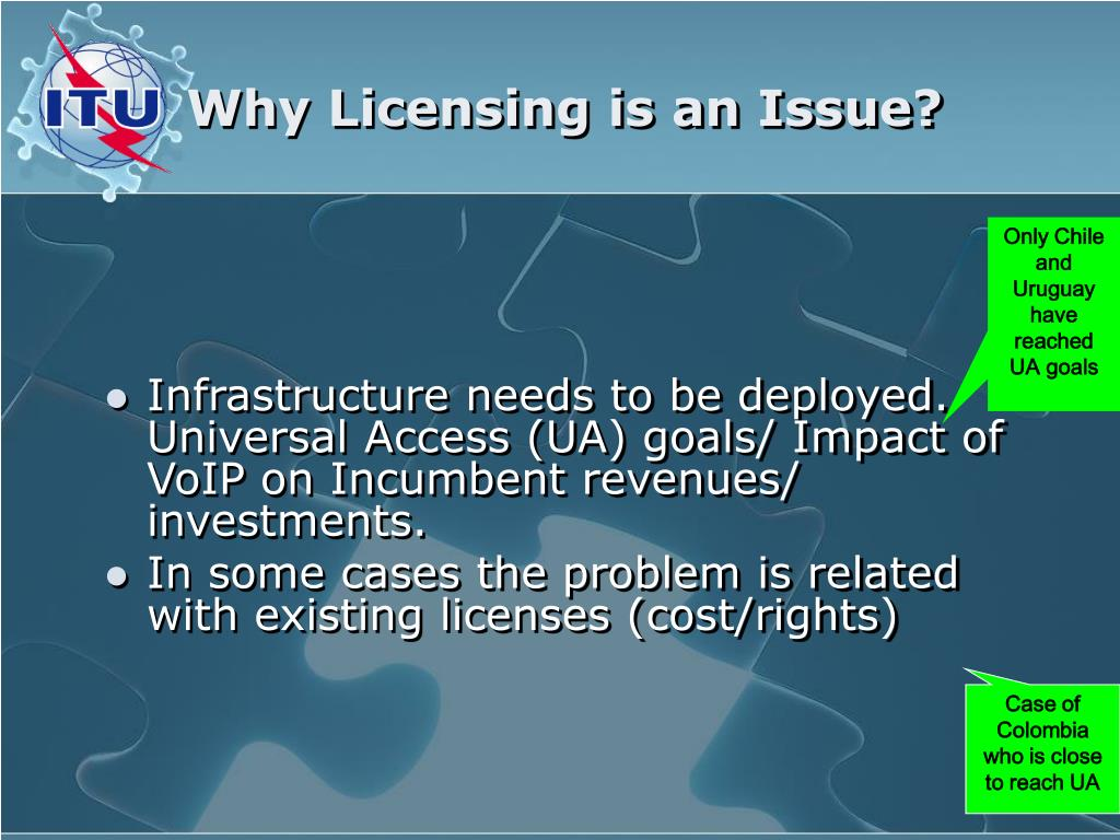 Why Licensing is an Issue?
