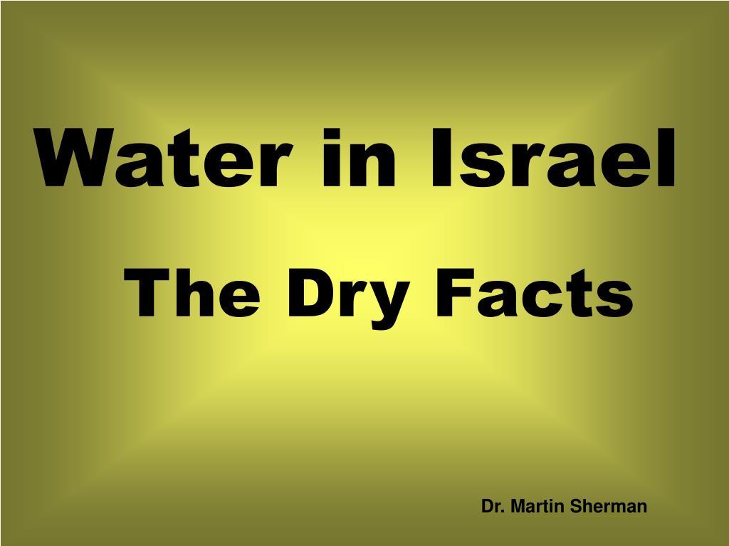 Water in Israel