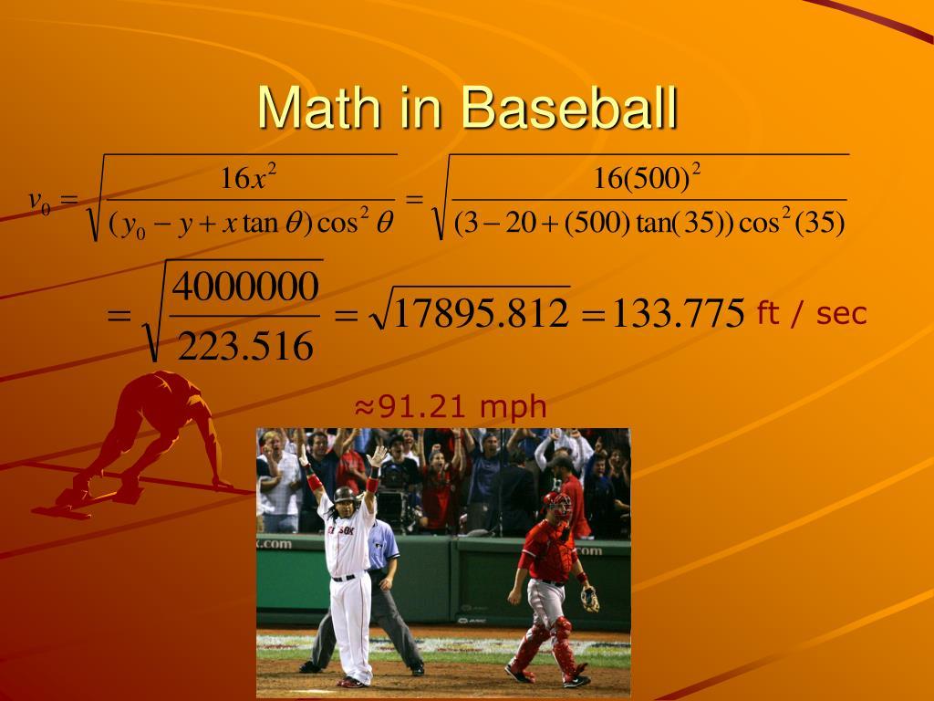 Math in Baseball