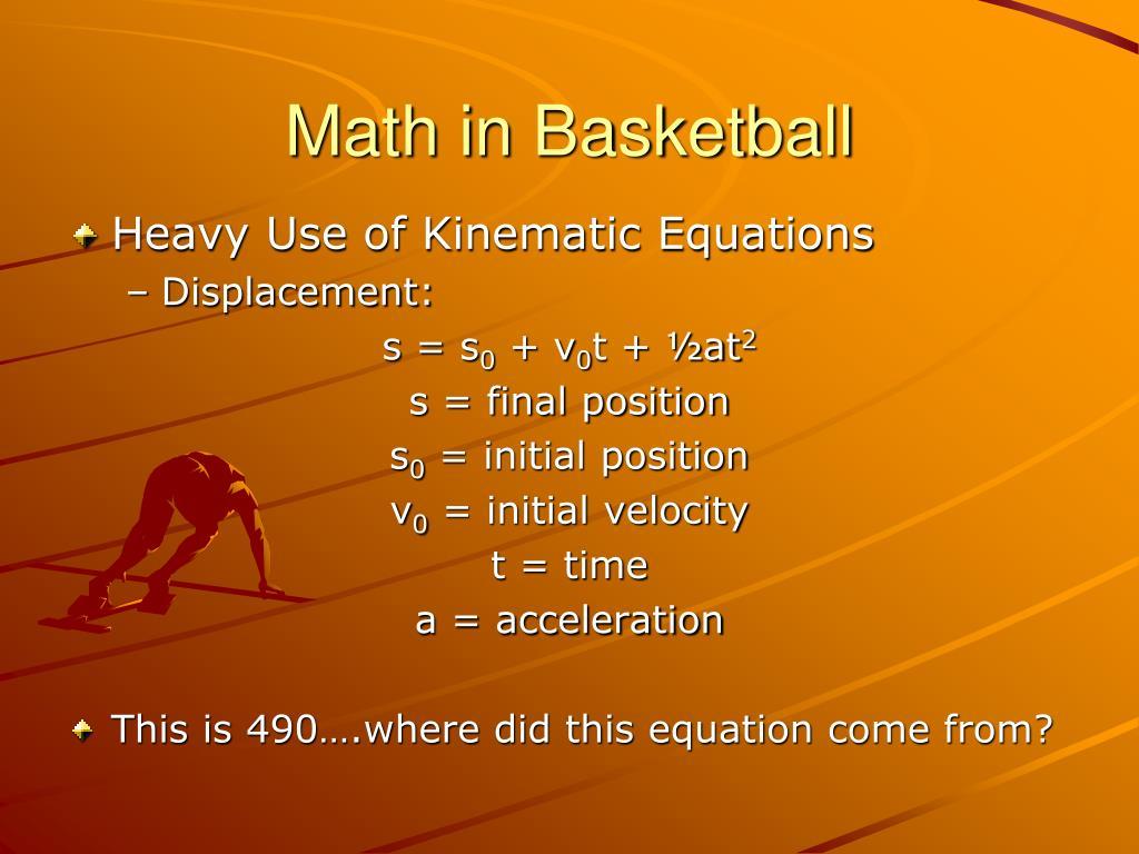 Math in Basketball