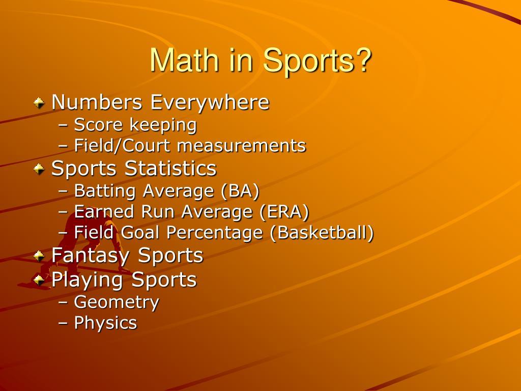 Math in Sports?