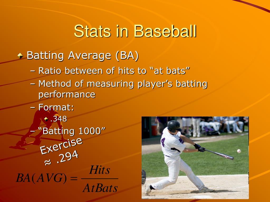 Stats in Baseball