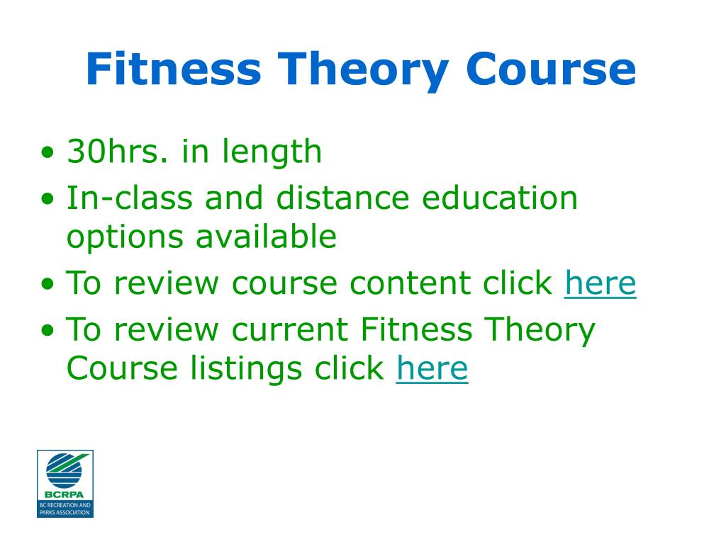 Fitness Theory Course