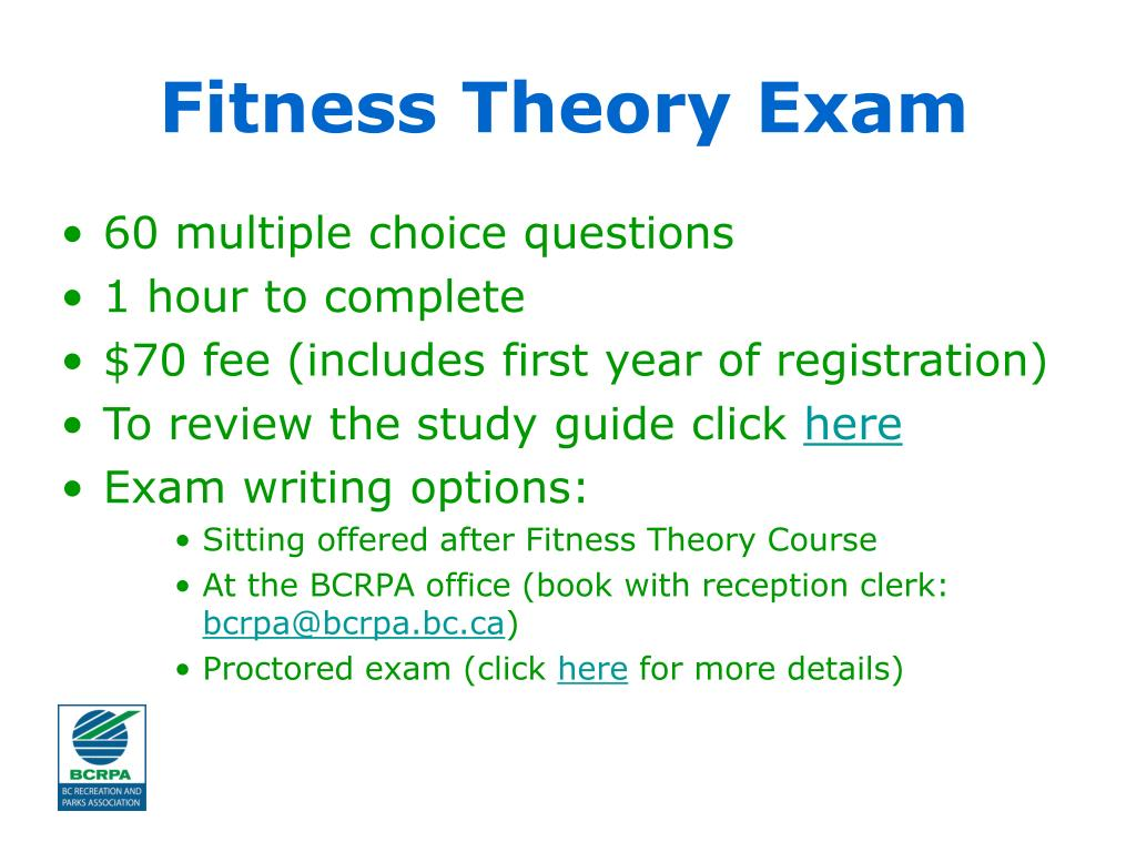 Fitness Theory Exam