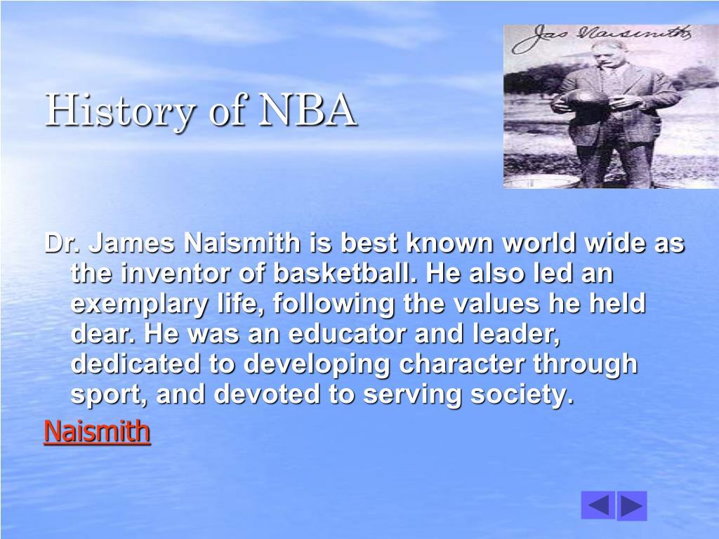 History of NBA