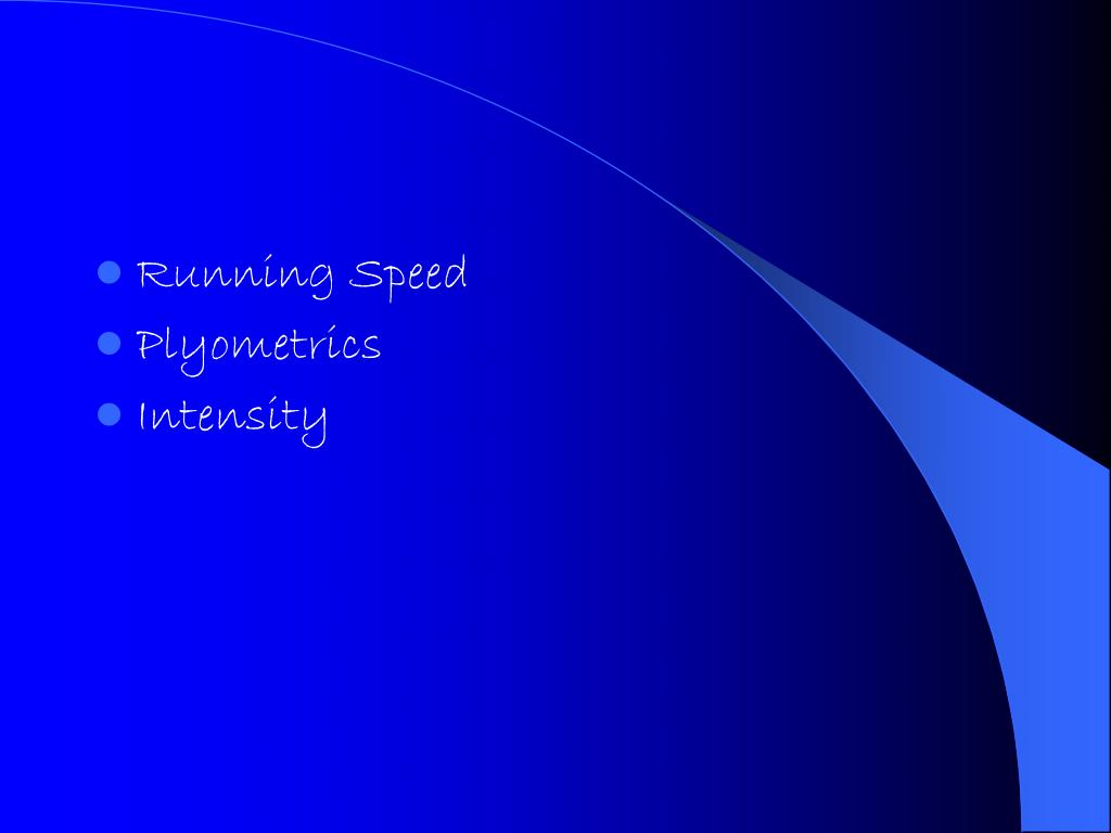 Running Speed