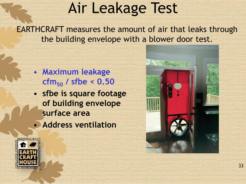 Air Leakage Test