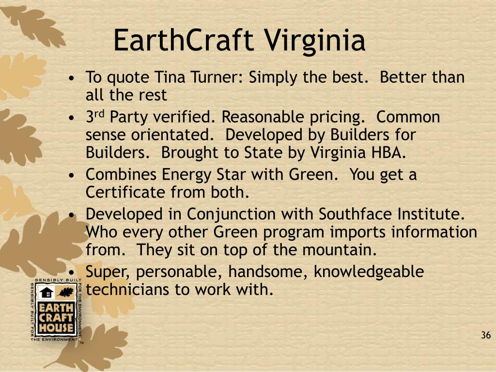 EarthCraft Virginia