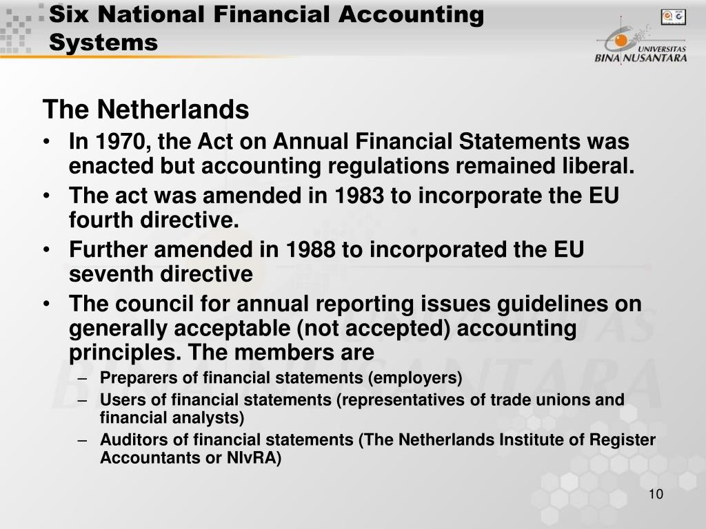 financial reporting systems of germany and the netherlands The afm is committed to promoting fair and transparent financial markets as an independent market conduct authority, we contribute to a sustainable financial system and prosperity in the netherlands.