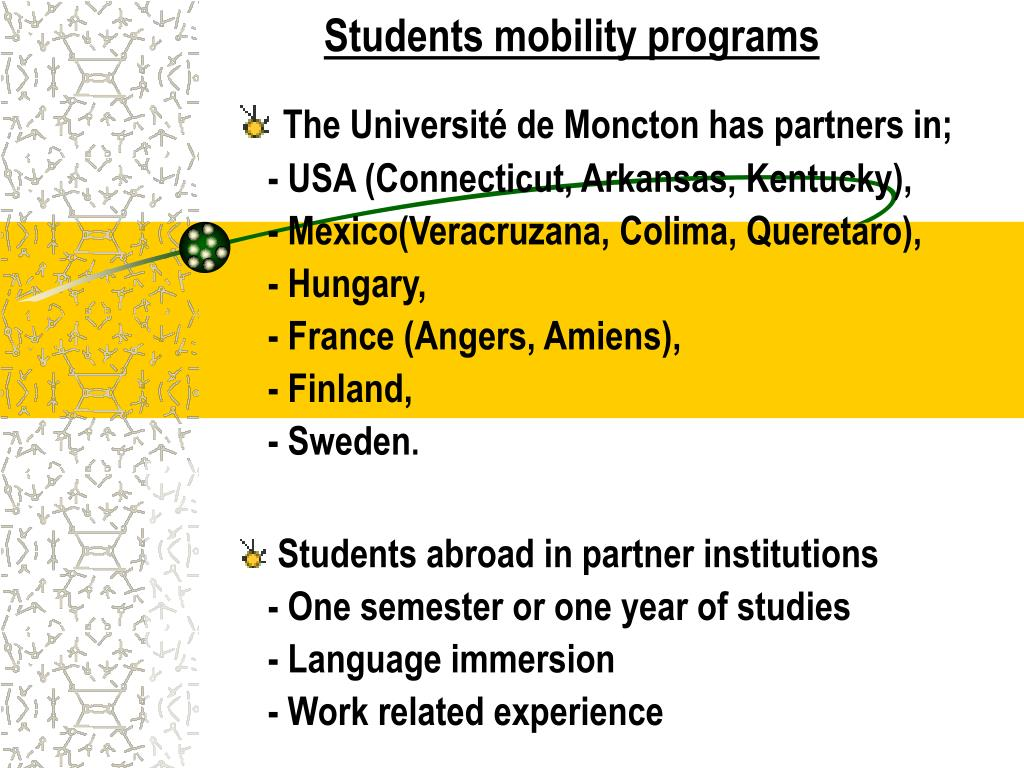 Students mobility programs