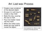 art lost wax process