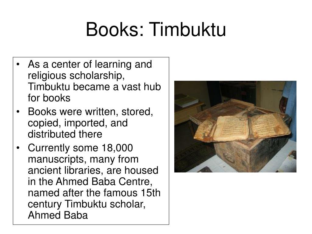Books: Timbuktu