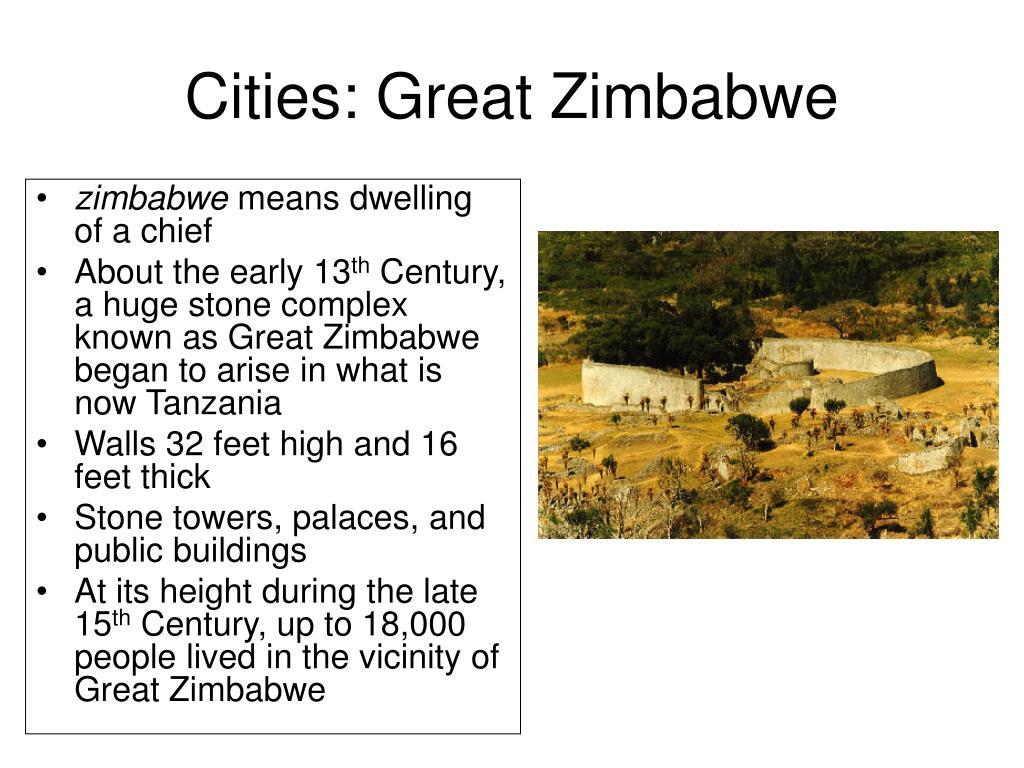 Cities: Great Zimbabwe