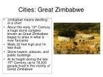 cities great zimbabwe