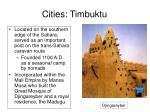 cities timbuktu