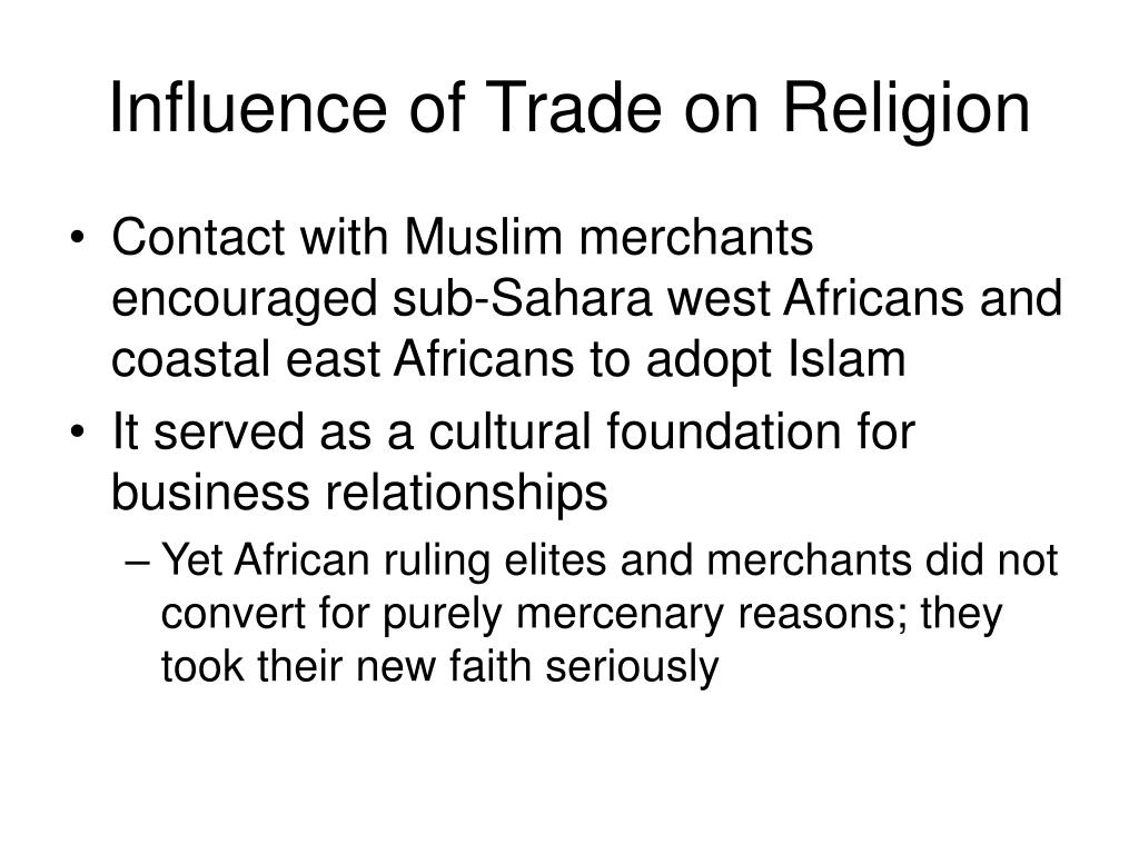 Influence of Trade on Religion