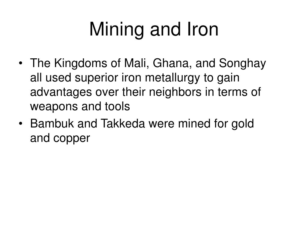 Mining and Iron