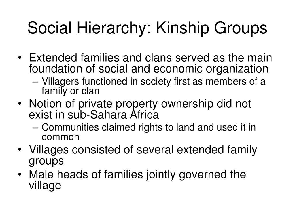 Social Hierarchy: Kinship Groups