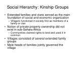 social hierarchy kinship groups