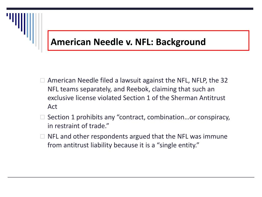 American Needle v. NFL: Background