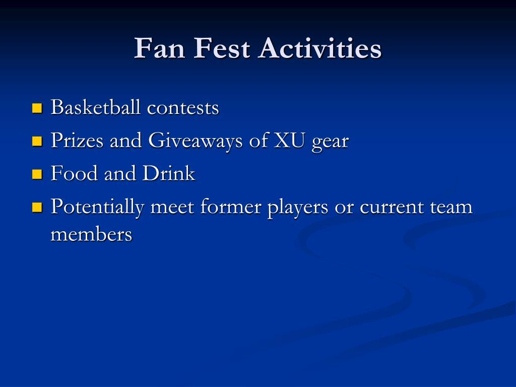 Fan Fest Activities