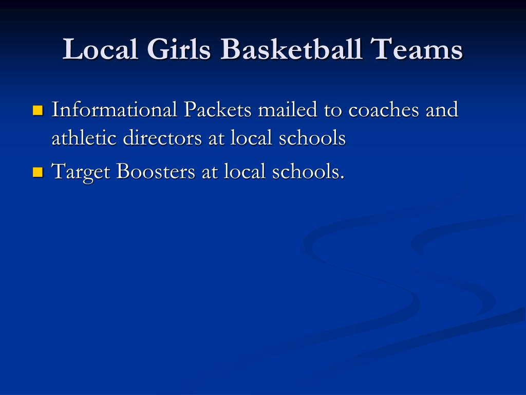 Local Girls Basketball Teams
