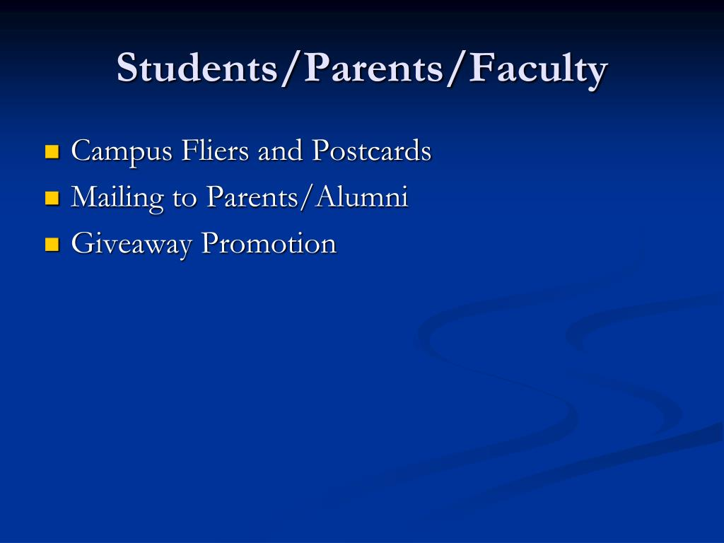 Students/Parents/Faculty