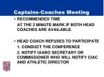 captains coaches meeting