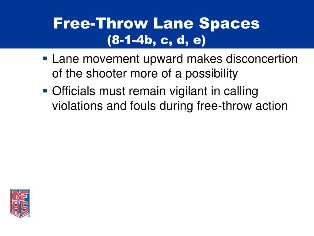 Free-Throw Lane Spaces