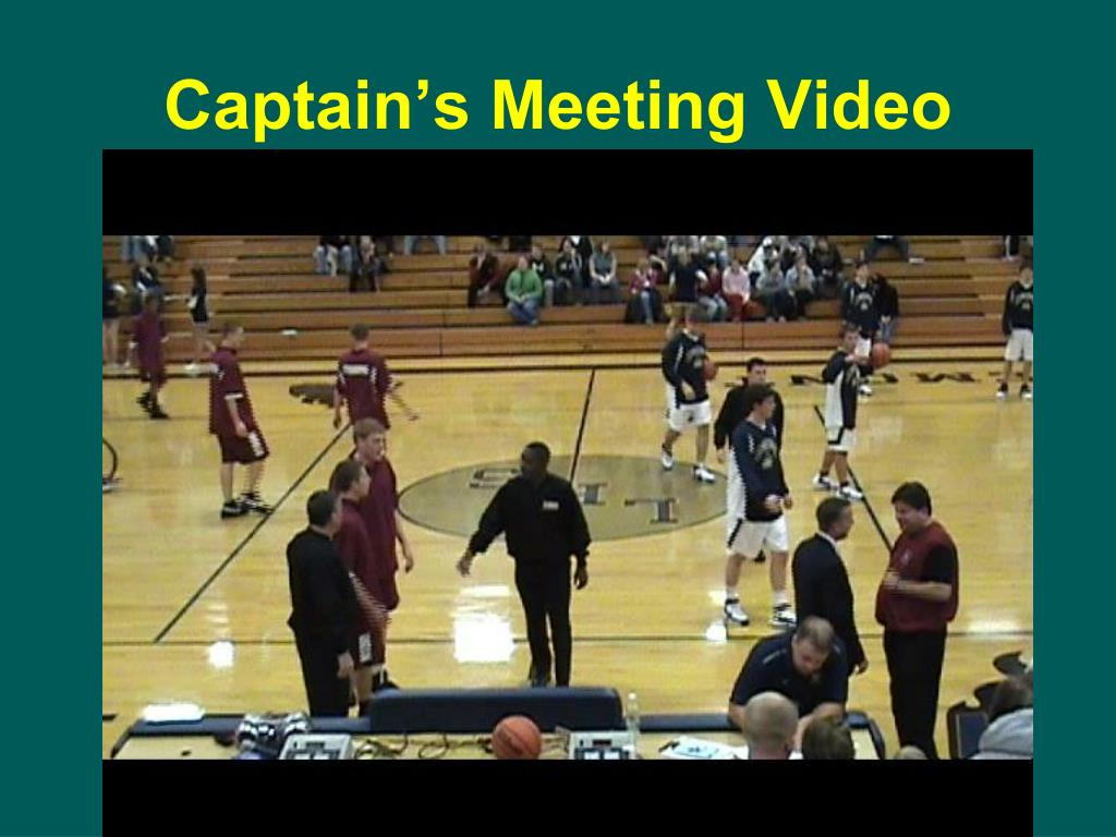 Captain's Meeting Video