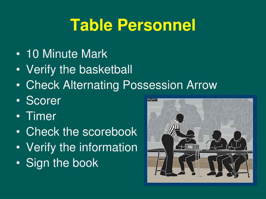 Table Personnel