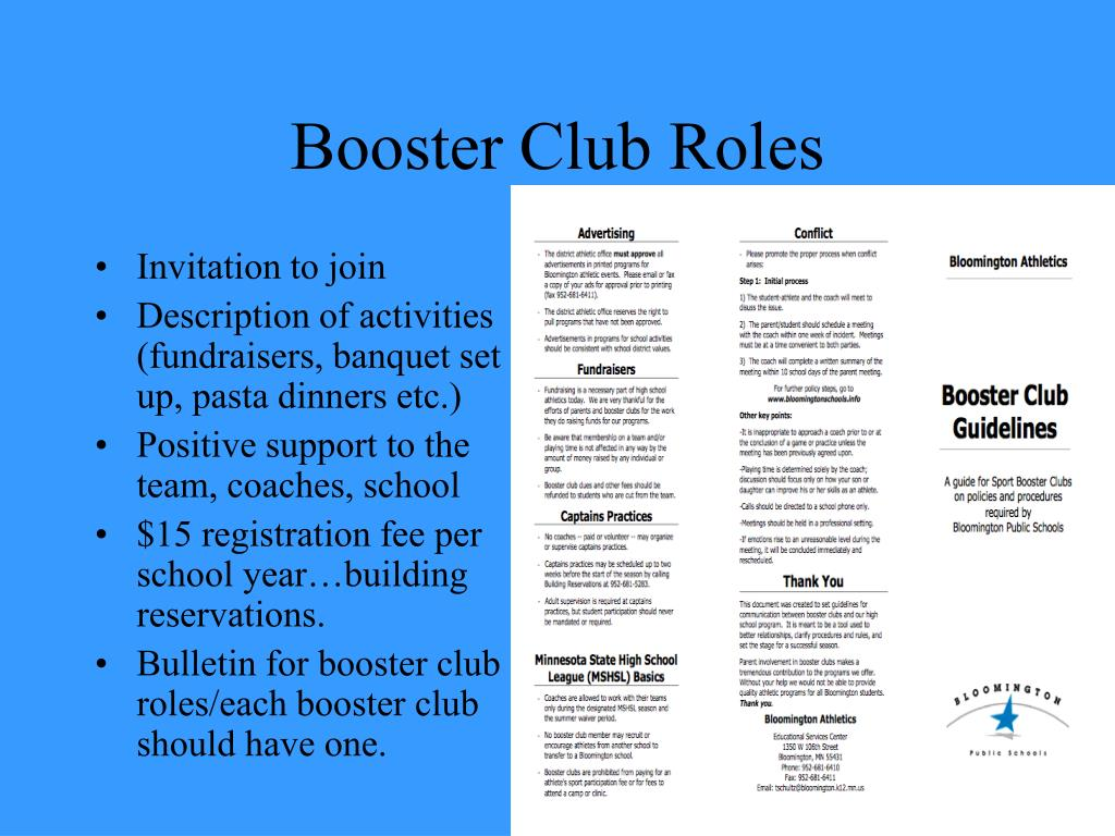 Booster Club Roles