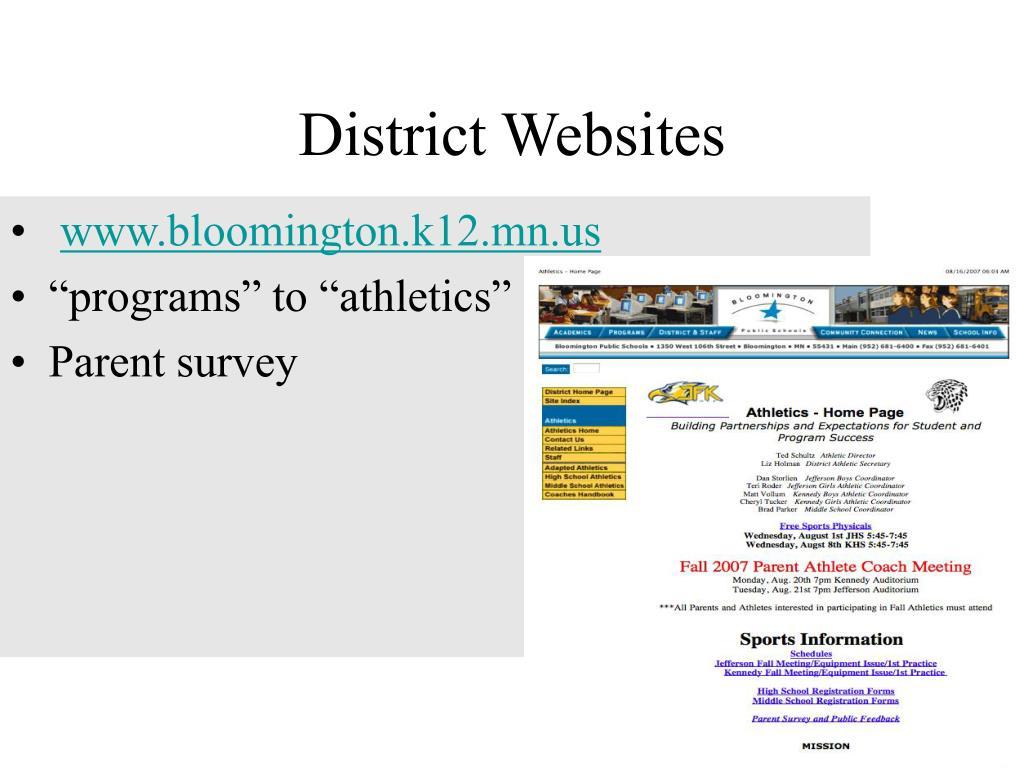 District Websites