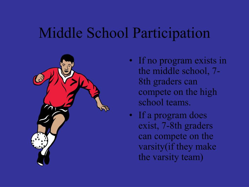 Middle School Participation