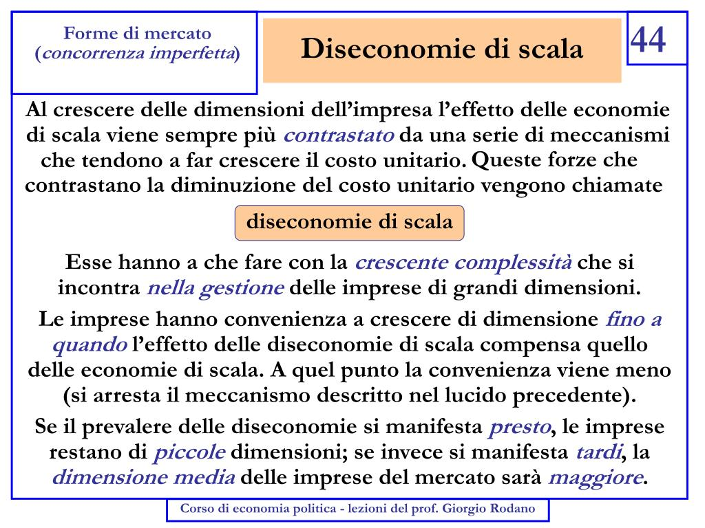 Diseconomie di scala