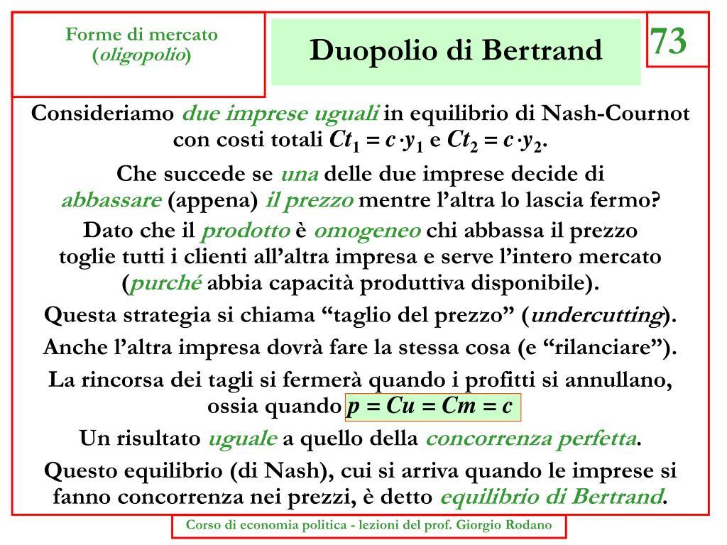 Duopolio di Bertrand