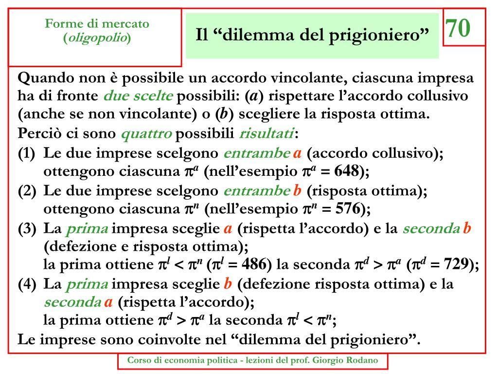 """Il """"dilemma del prigioniero"""""""
