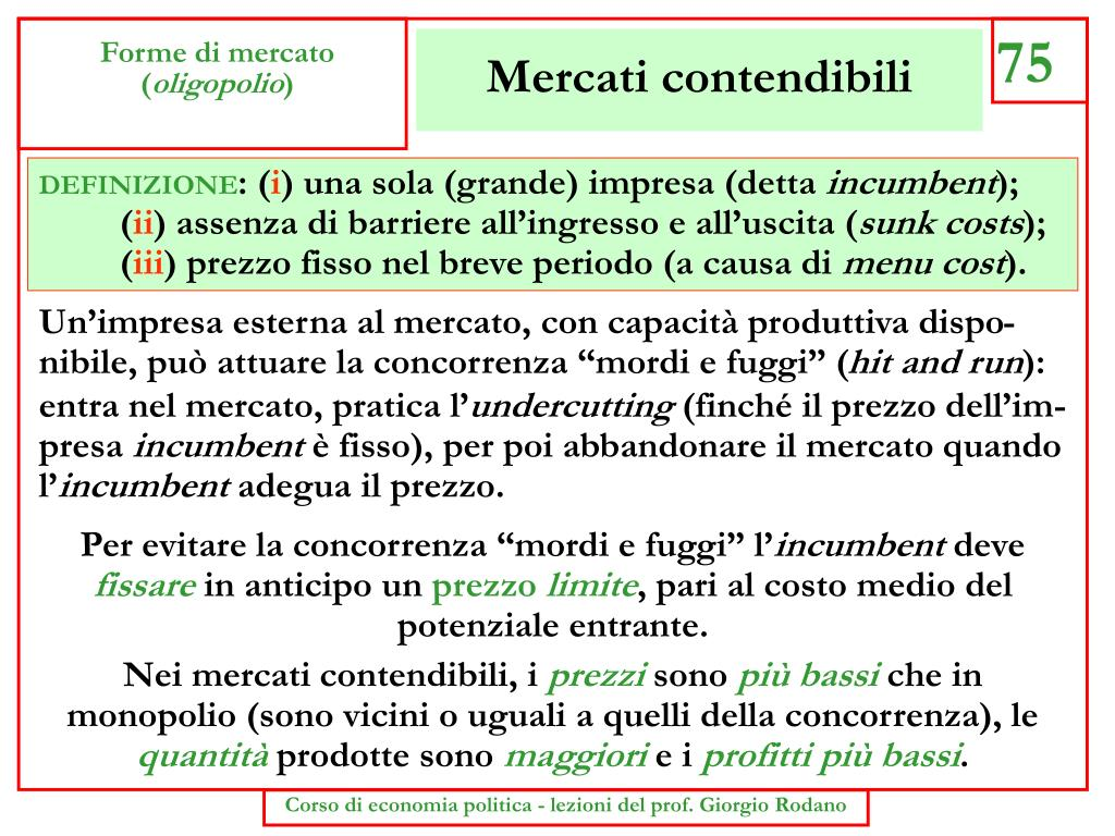 Mercati contendibili