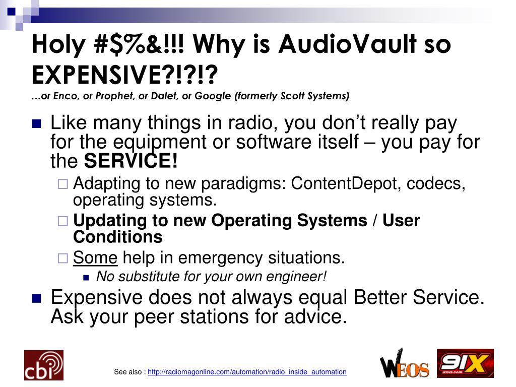 Holy #$%&!!! Why is AudioVault so EXPENSIVE?!?!?