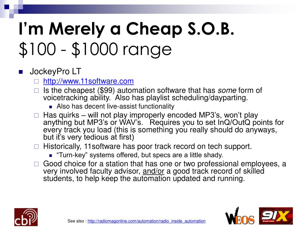 I'm Merely a Cheap S.O.B.