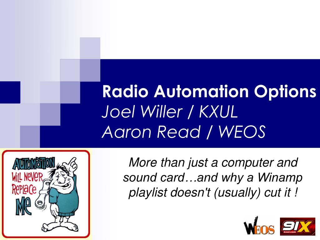 Radio Automation Options