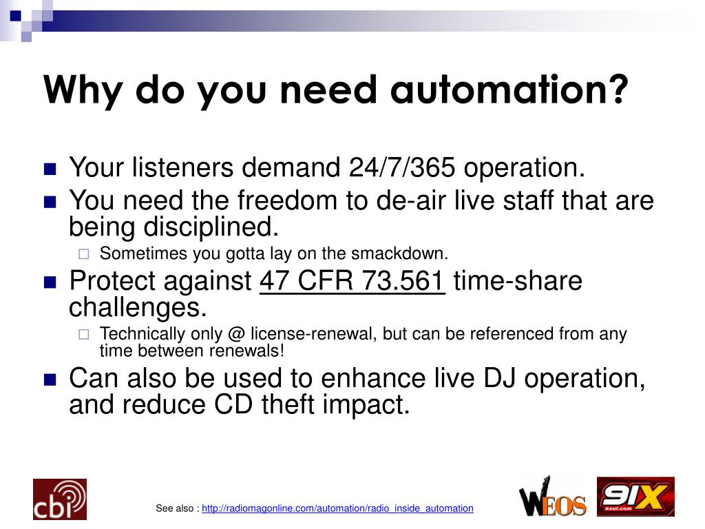 Why do you need automation?