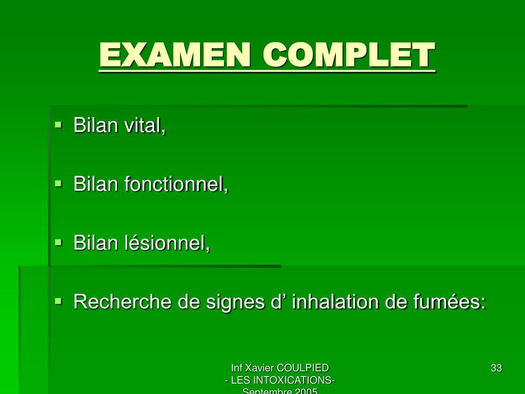 EXAMEN COMPLET