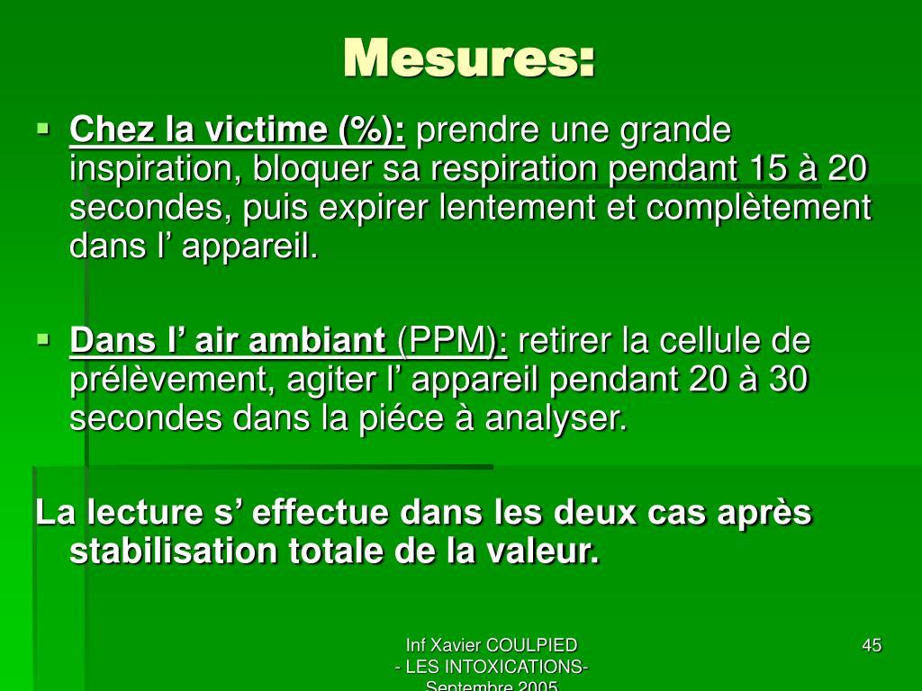 Mesures:
