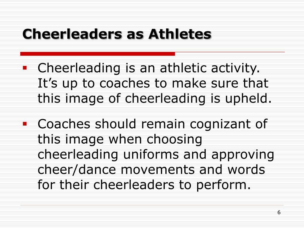 Cheerleaders as Athletes
