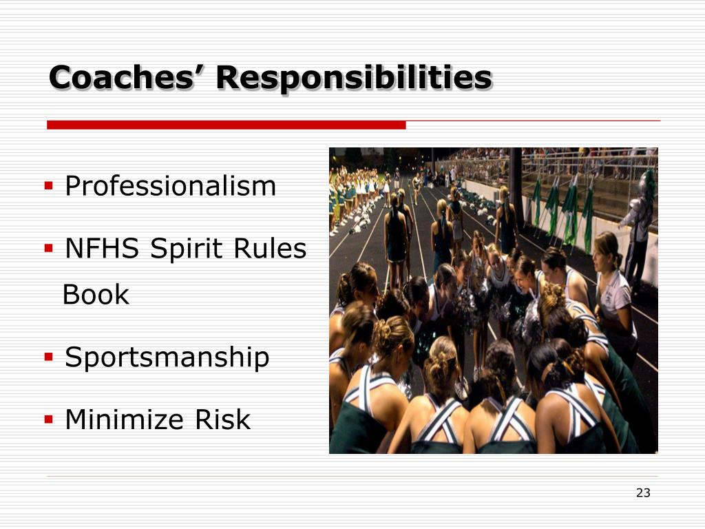 Coaches' Responsibilities
