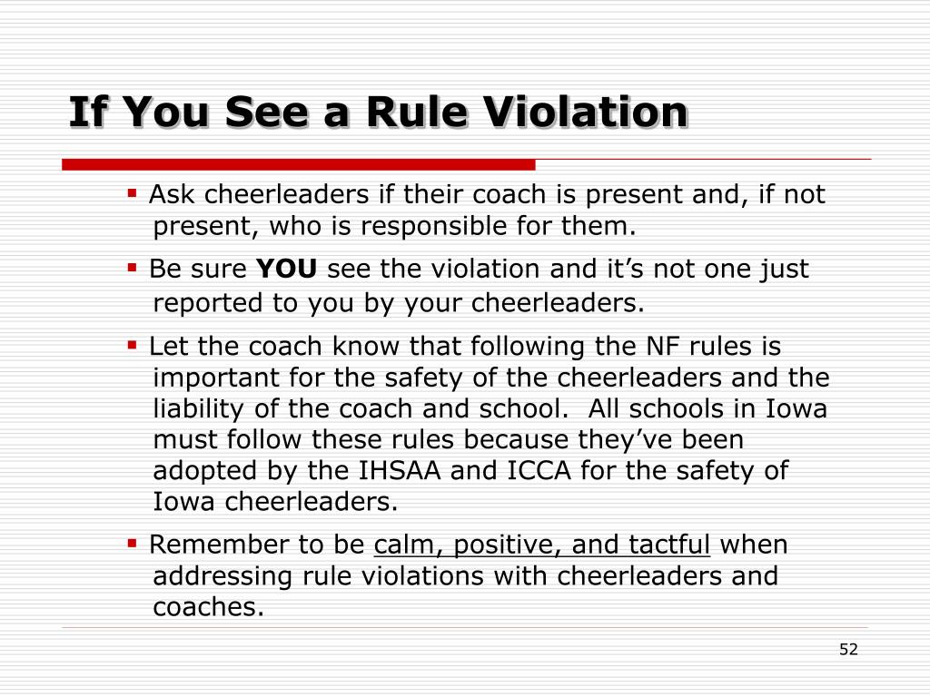 If You See a Rule Violation